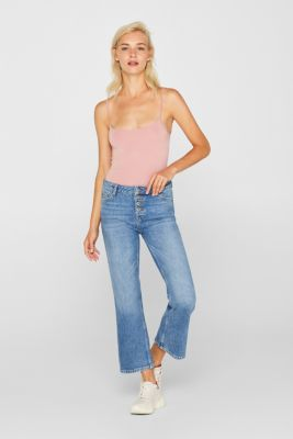 Stretch top with adjustable spaghetti straps, OLD PINK 3, detail