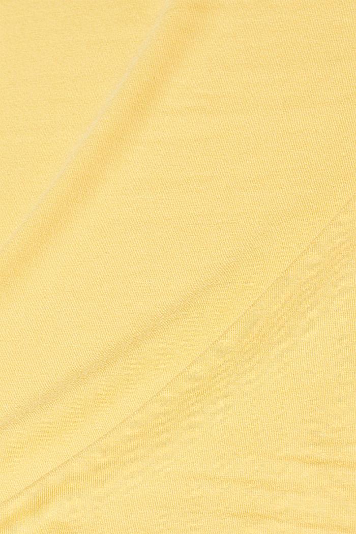 Stretch-Top mit verstellbaren Spaghettiträgern, YELLOW, detail image number 4