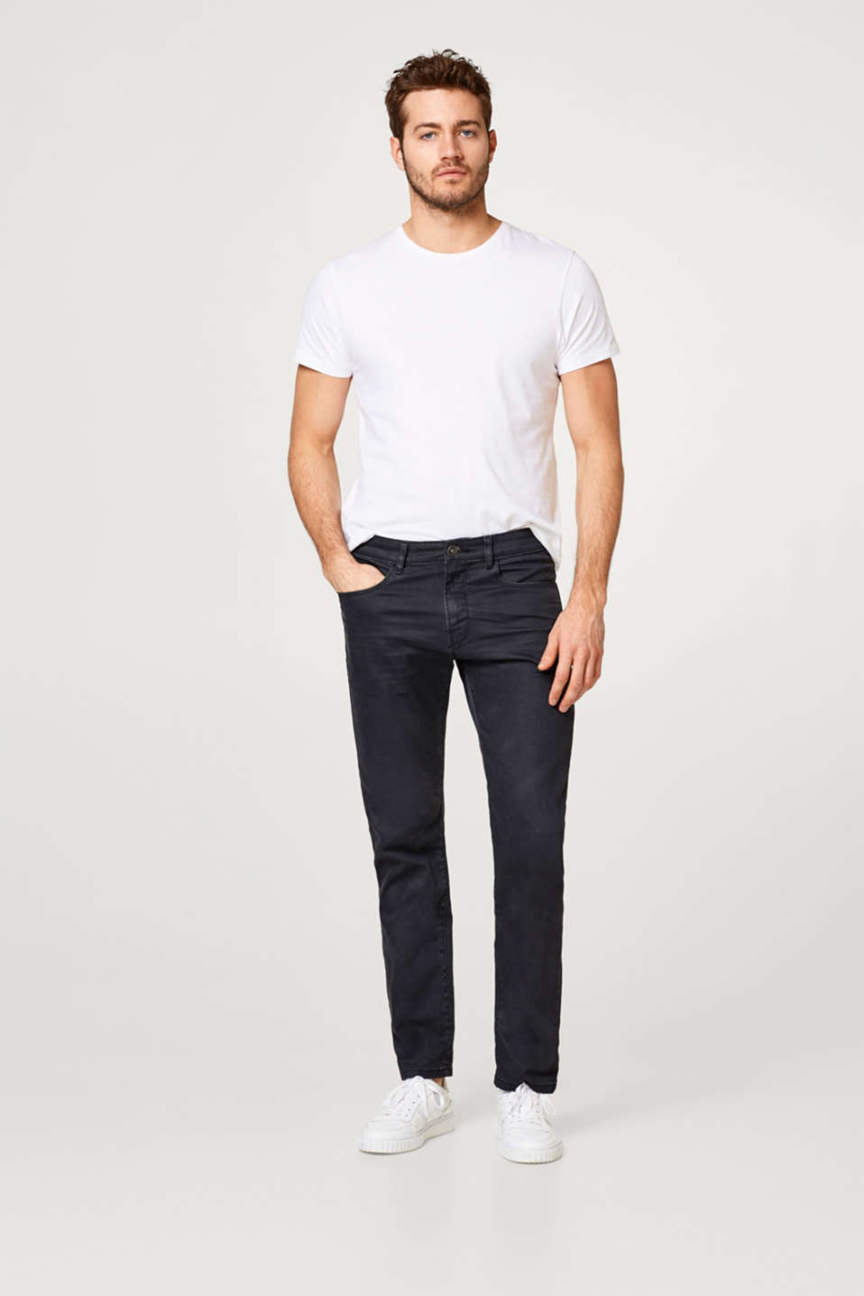 Esprit jean 5 poches en denim stretch noir acheter sur - La ligne noire jean christophe grange ...