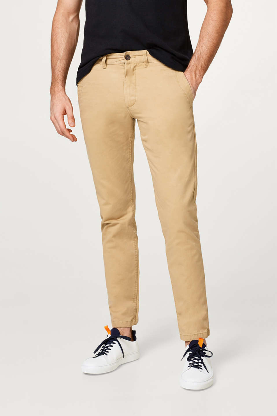 Esprit - 100% cotton basic chinos