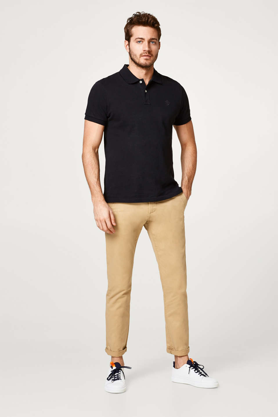 100% cotton basic chinos