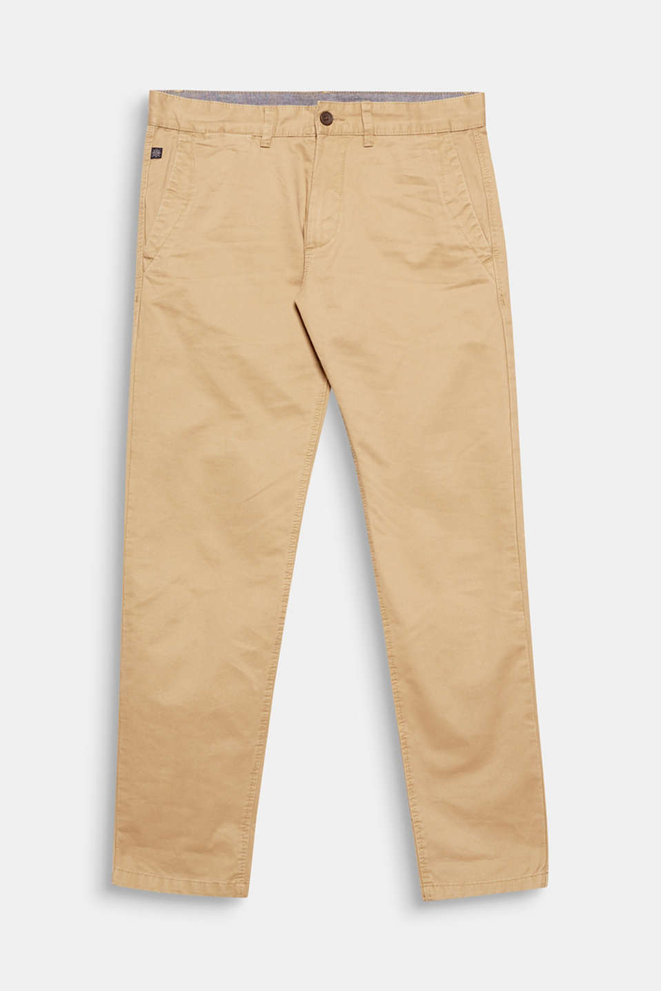 Your fashion basic that your wardrobe should not be without: twill chinos in pure cotton.