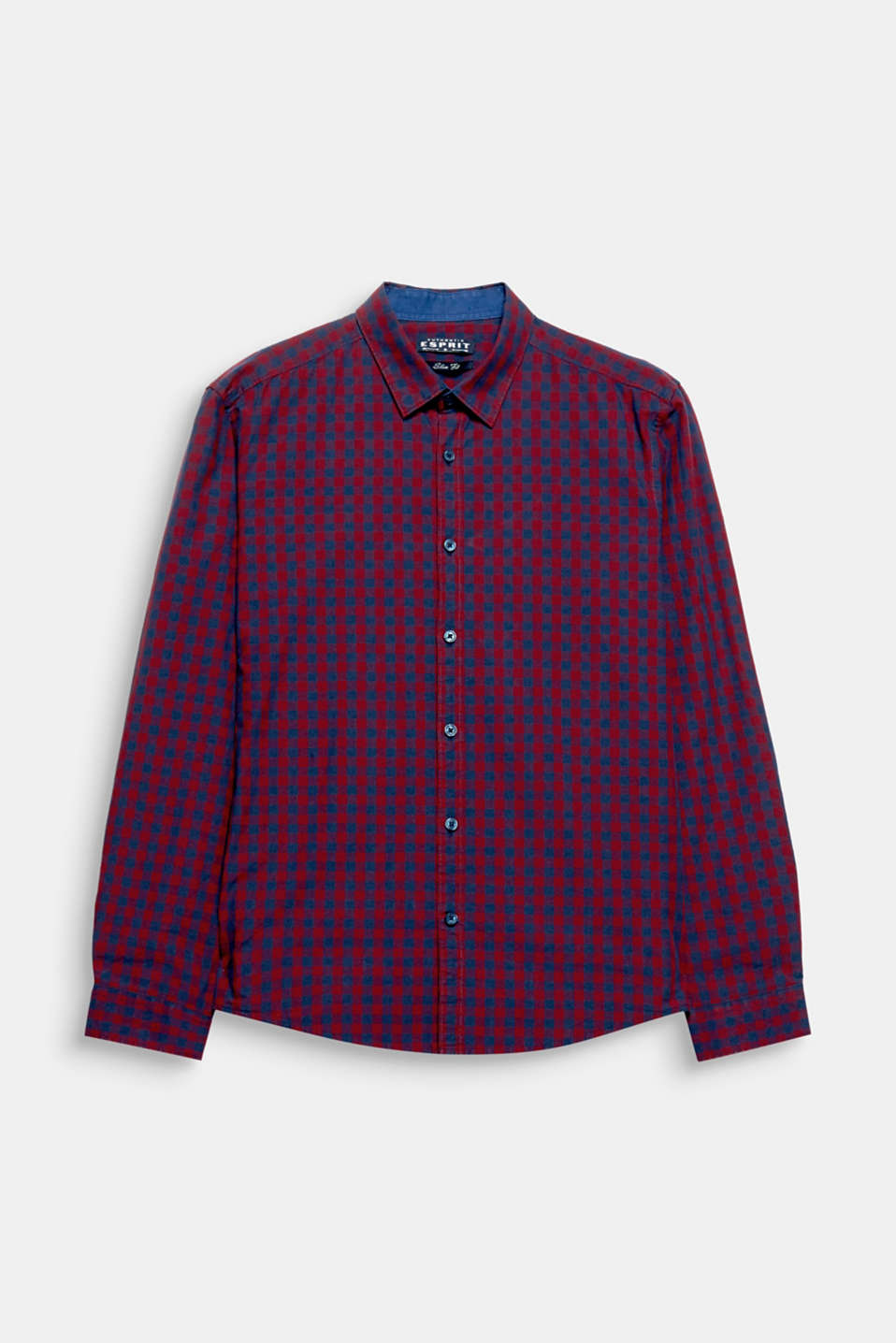 Cotton shirt with a classic Vichy check pattern