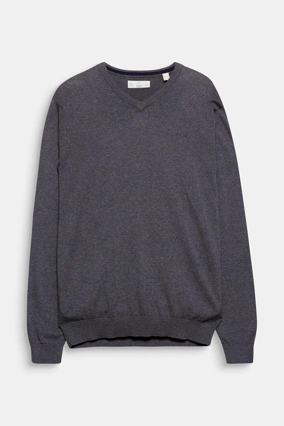 Esprit Basic V Neck Pulli, 100% Baumwolle im Online Shop