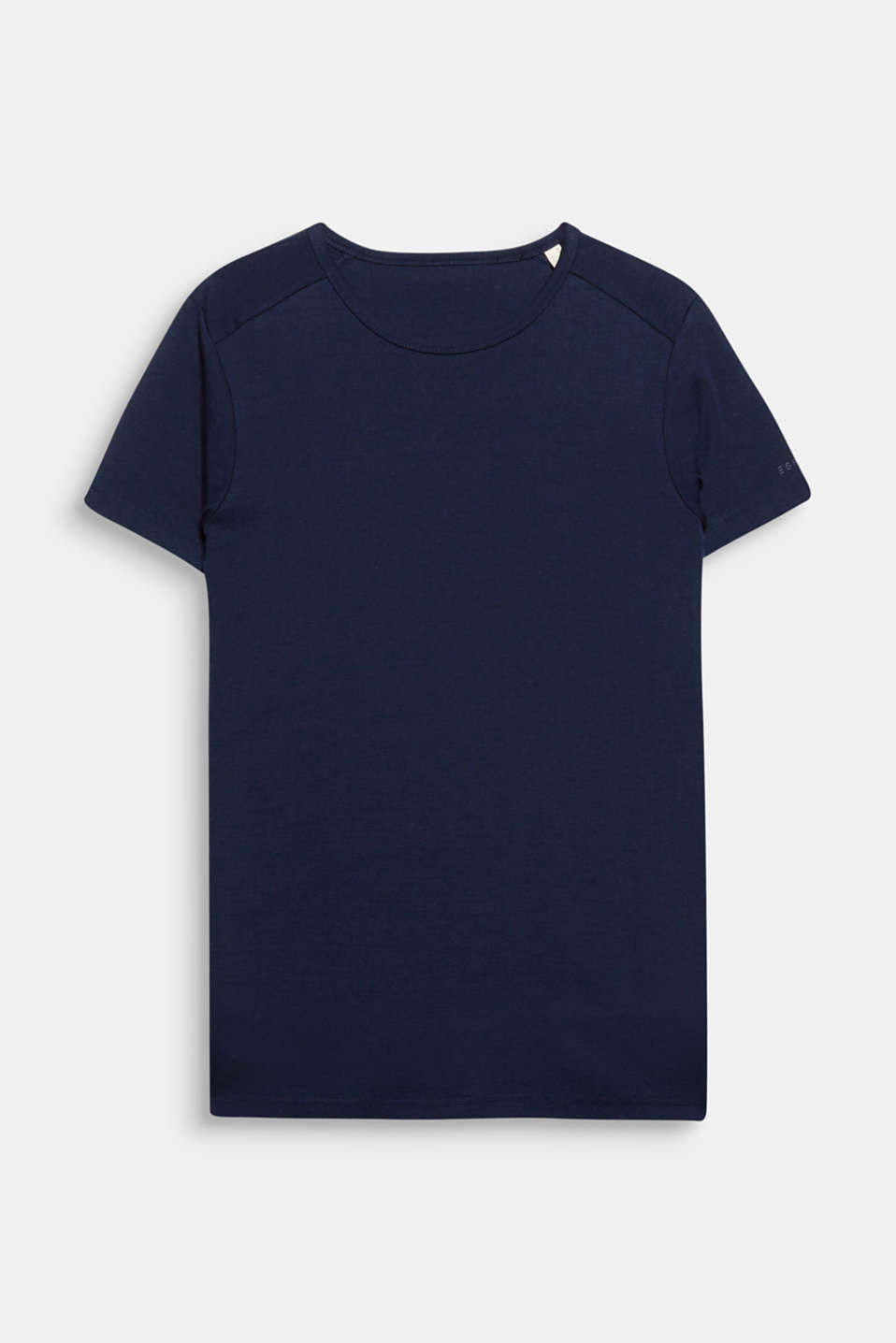 A reliable fashion basic: ribbed jersey T-shirt in 100% cotton