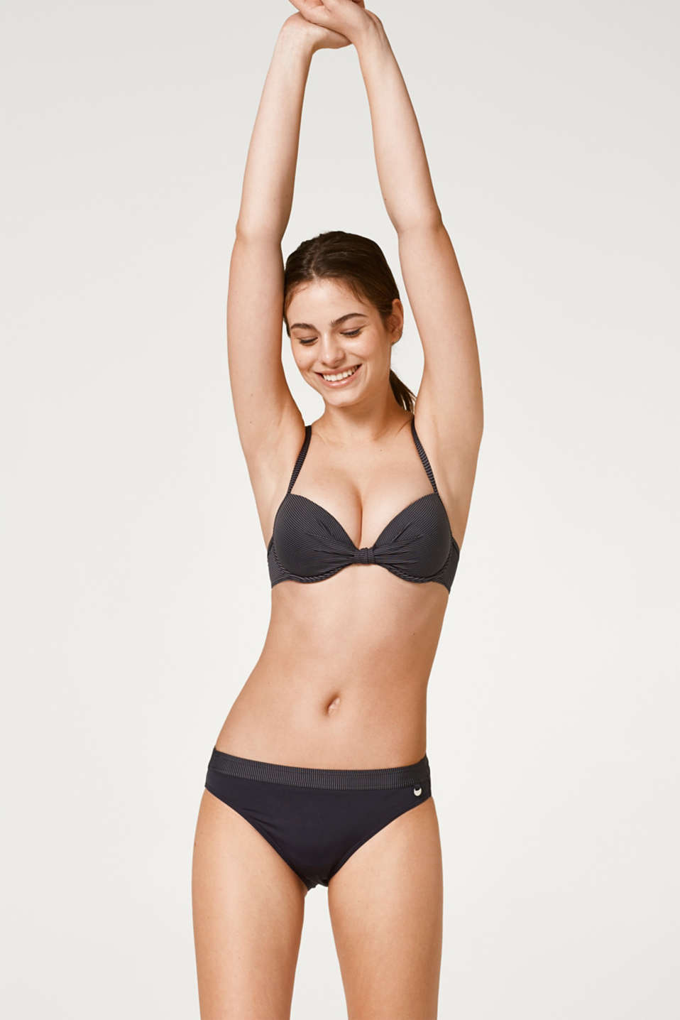 Esprit - Bikini bottoms with a striped waist trim