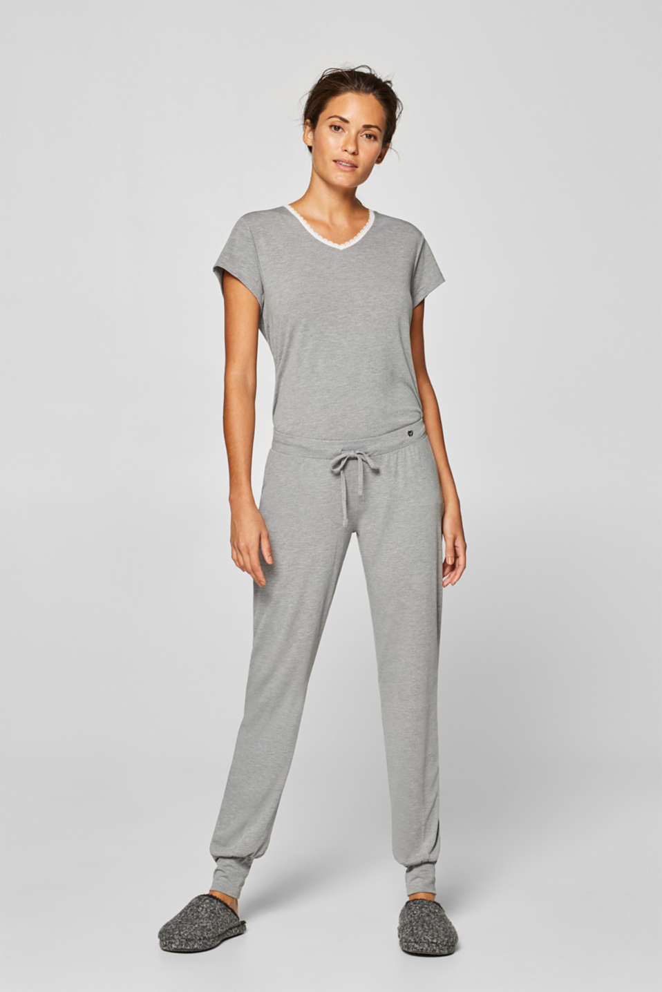 Esprit - Stretch jersey pyjama bottoms