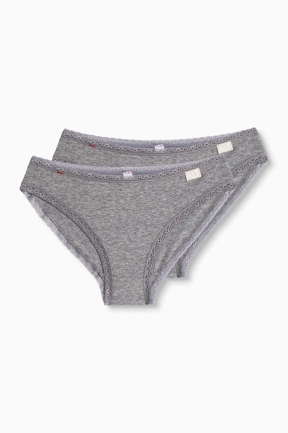Esprit - Lot de 2 slips en coton stretch