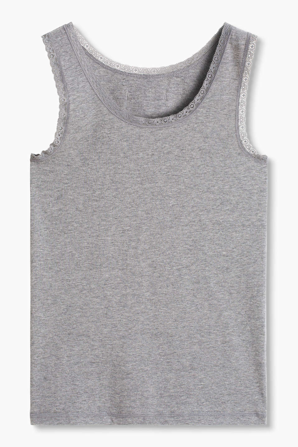 Esprit - Basic top van katoen/stretch
