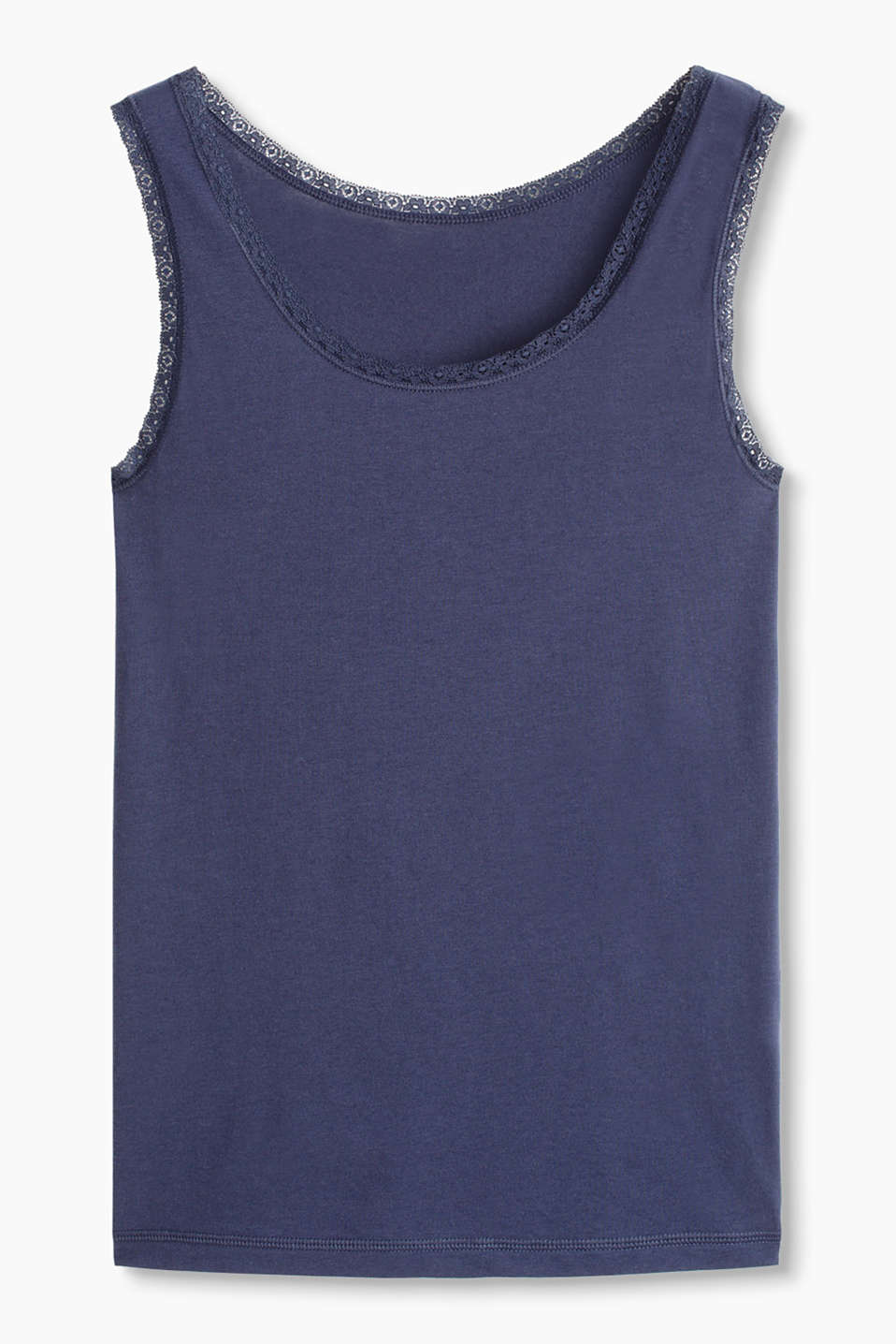 Esprit - Basic-Top aus Baumwolle/Stretch