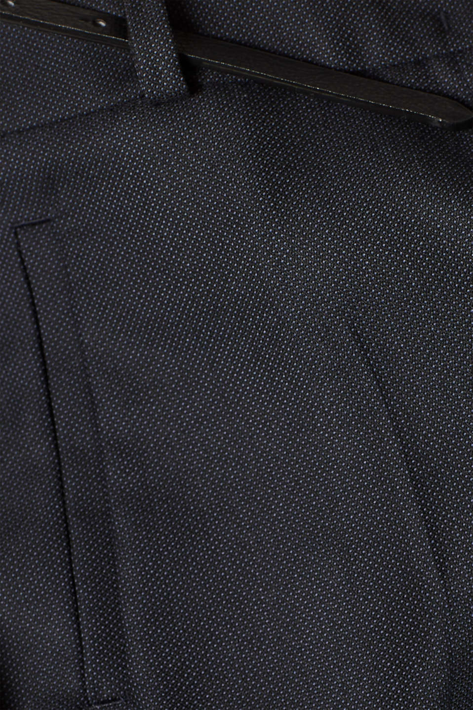Business suit trousers with a belt, NAVY, detail image number 4