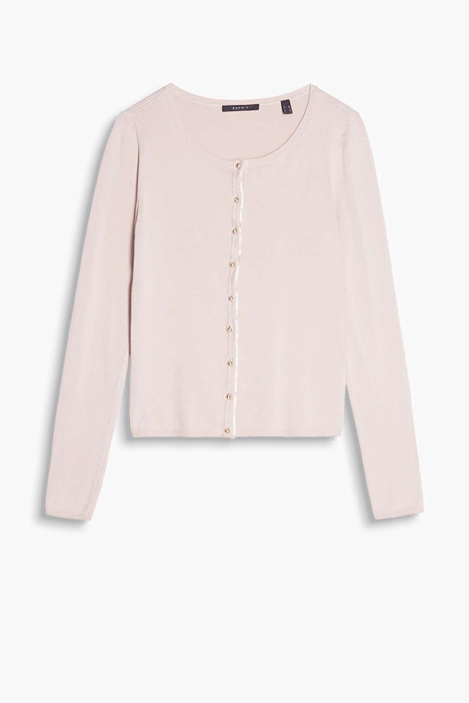Esprit Feinstrick Cardigan mit Halbkugelknöpfen im Online