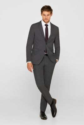 TWO-TONE GREY mix + match: trousers in blended wool, DARK GREY 5, detail