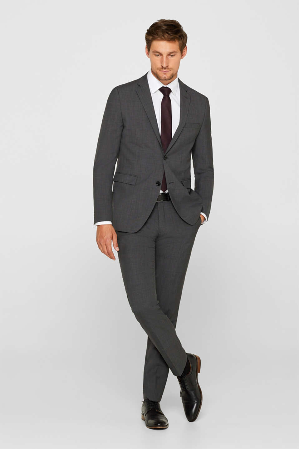 Pants suit Extra Slim fit, DARK GREY 5, detail image number 2