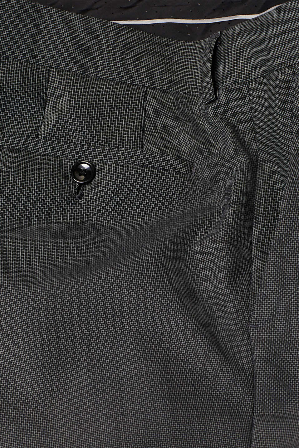 TWO-TONE GREY mix + match: trousers in blended wool, DARK GREY 5, detail image number 5