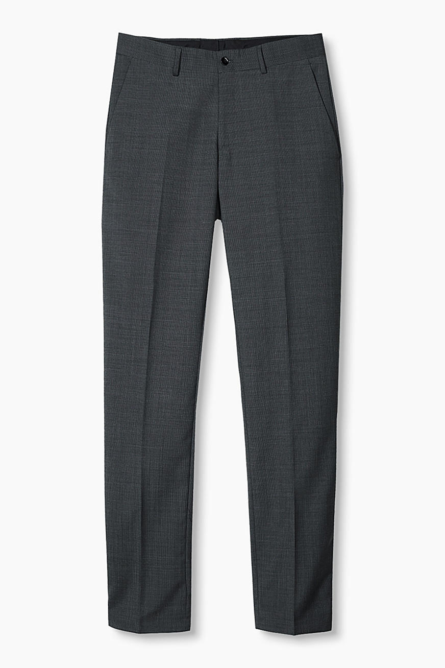 2-TONE-GREY Mix + Match: pantaloni in misto lana