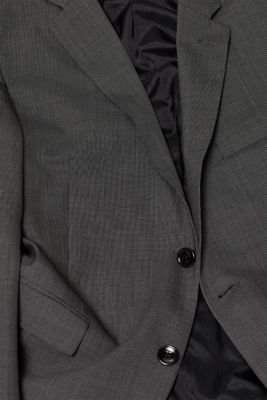 TWO-TONE GREY mix + match: jacket in blended wool, DARK GREY 5, detail