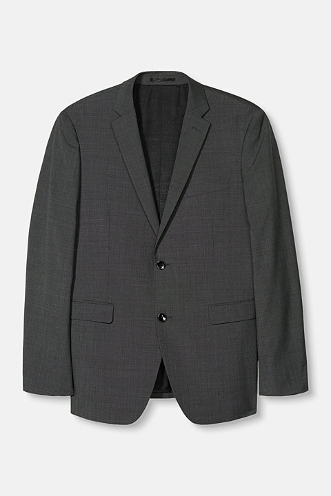 TWO-TONE GREY mix + match: jacket in blended wool