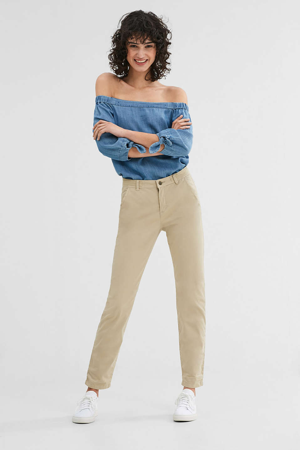 edc - Pantaloni chino in cotone con stretch