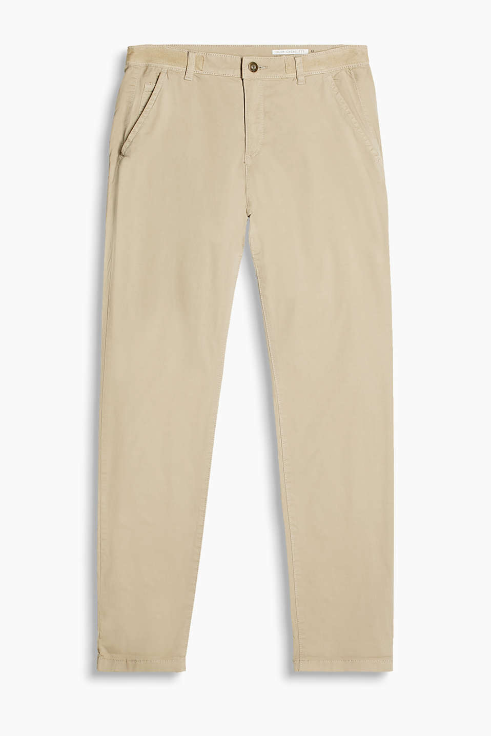 Chinos in a five-pocket style with a garment-washed finish