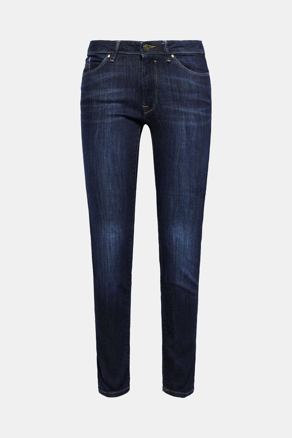 Stretch jeans with organic cotton, BLUE DARK WASH, detail image number 8