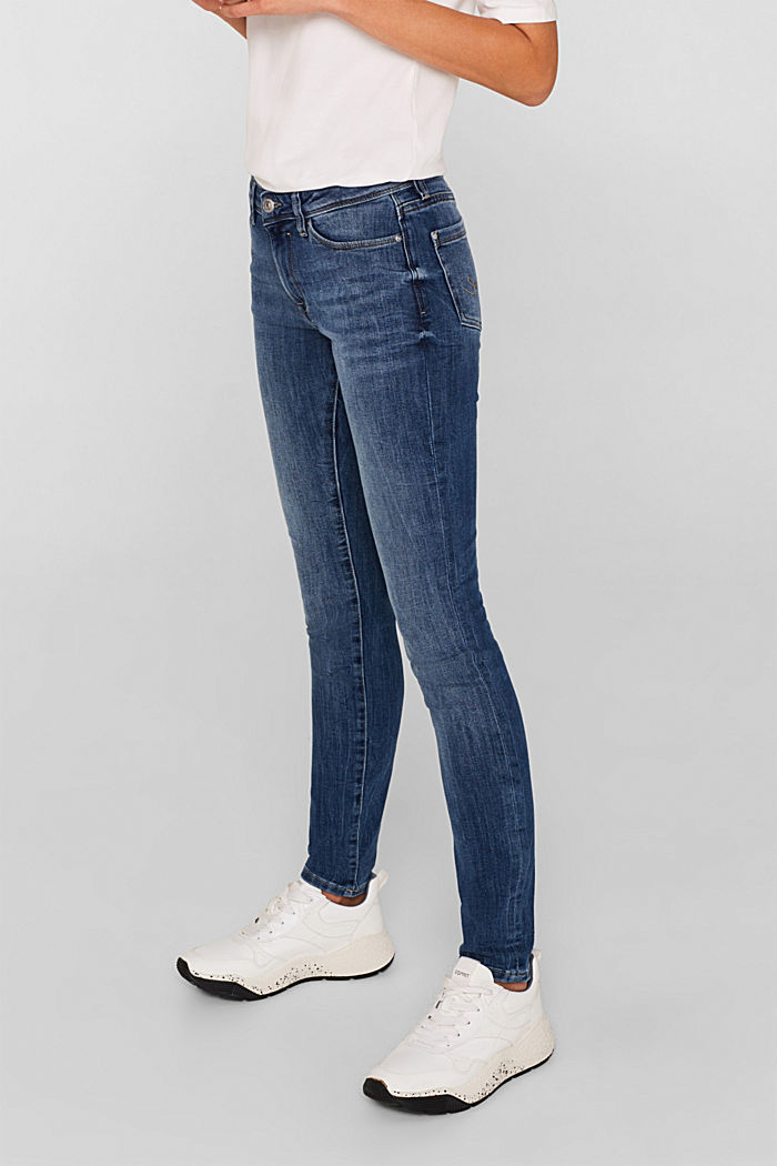 Jeans with organic cotton, BLUE MEDIUM WASHED, detail image number 6