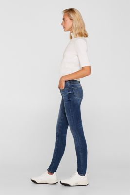 Jeans with organic cotton, BLUE MEDIUM WASH, detail