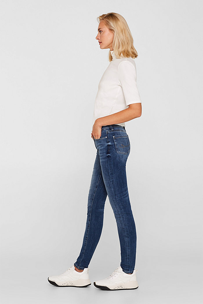 Jeans with organic cotton, BLUE MEDIUM WASHED, detail image number 1