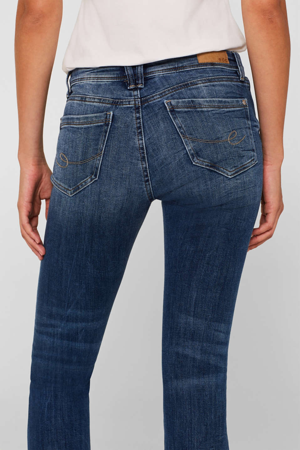 Jeans with organic cotton, BLUE MEDIUM WASH, detail image number 5