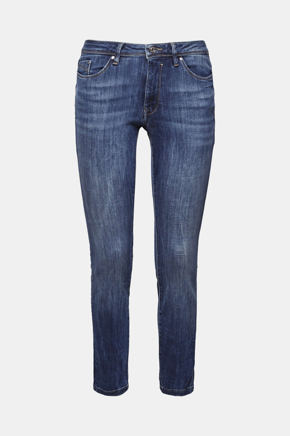Stretch jeans with organic cotton, BLUE MEDIUM WASH, detail image number 7