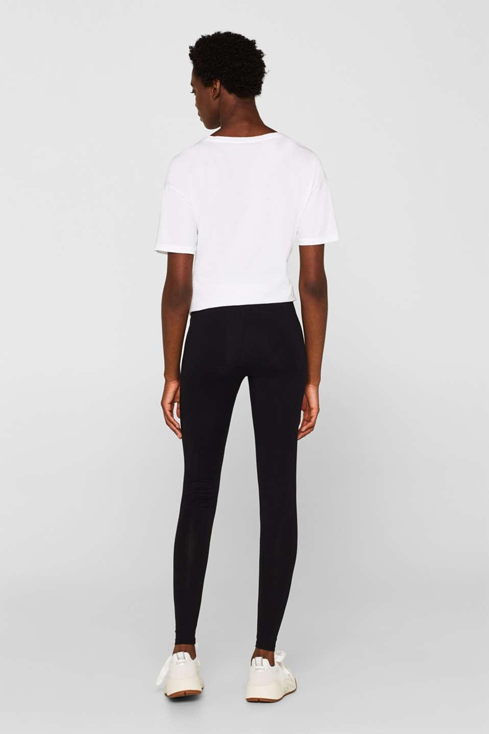 Opaque leggings, BLACK, detail image number 3