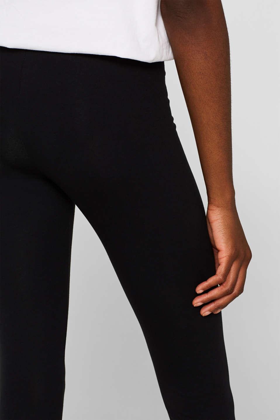Opaque leggings, BLACK, detail image number 2