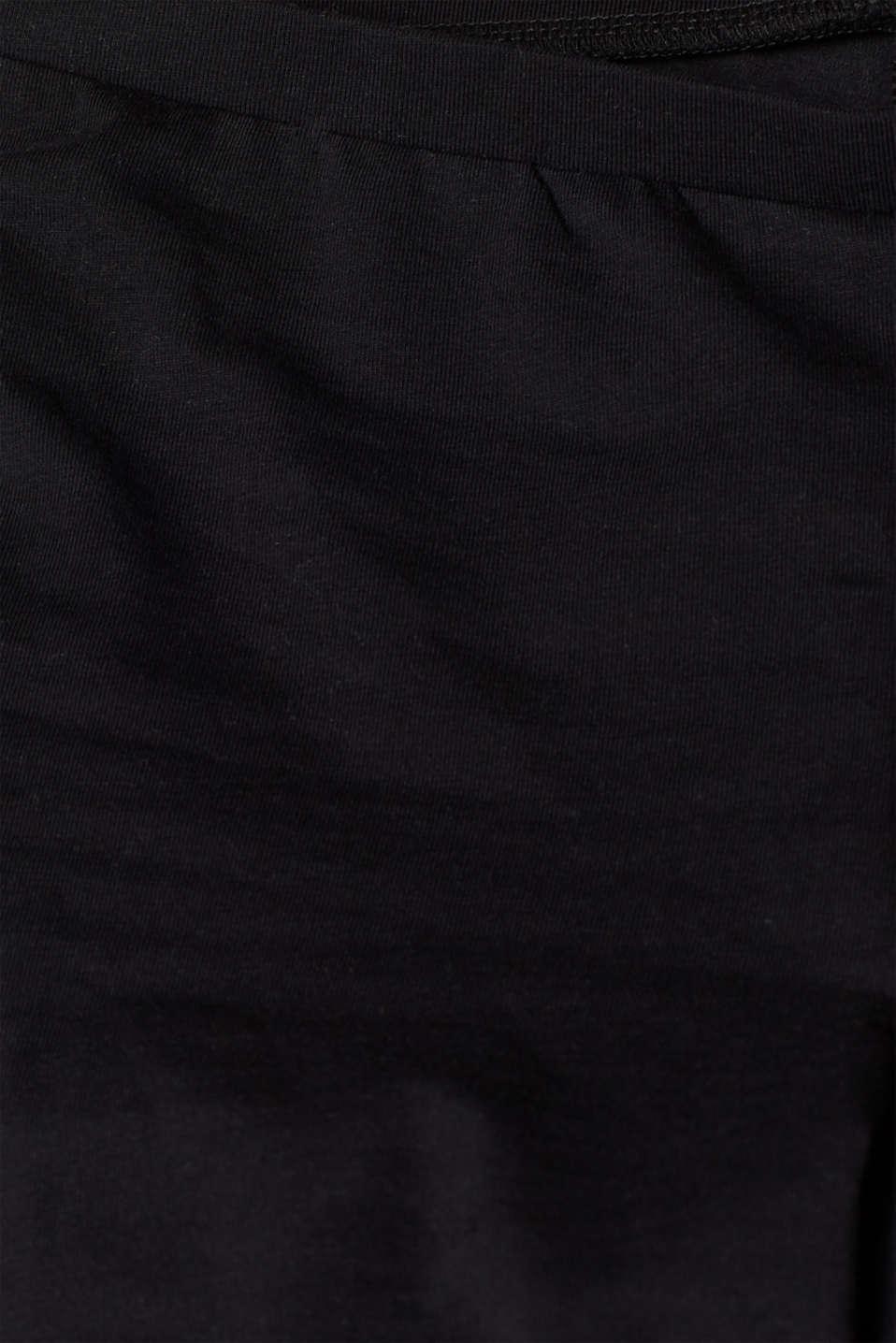 Opaque organic cotton leggings, BLACK, detail image number 4