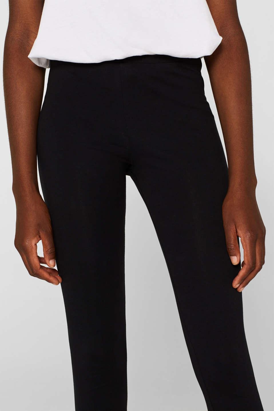 Opaque leggings, BLACK, detail image number 5