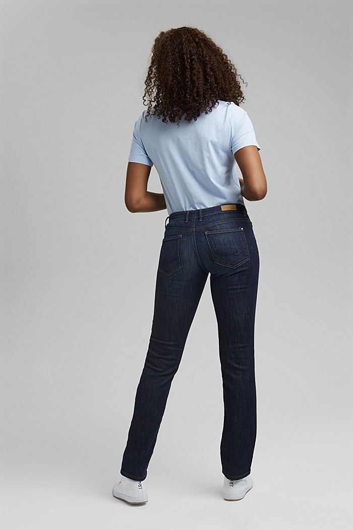 Jeans met organic cotton, BLUE DARK WASHED, detail image number 3