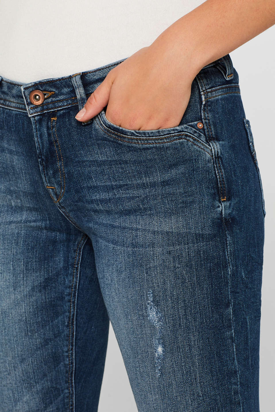 Pants denim, BLUE DARK WASH, detail image number 2