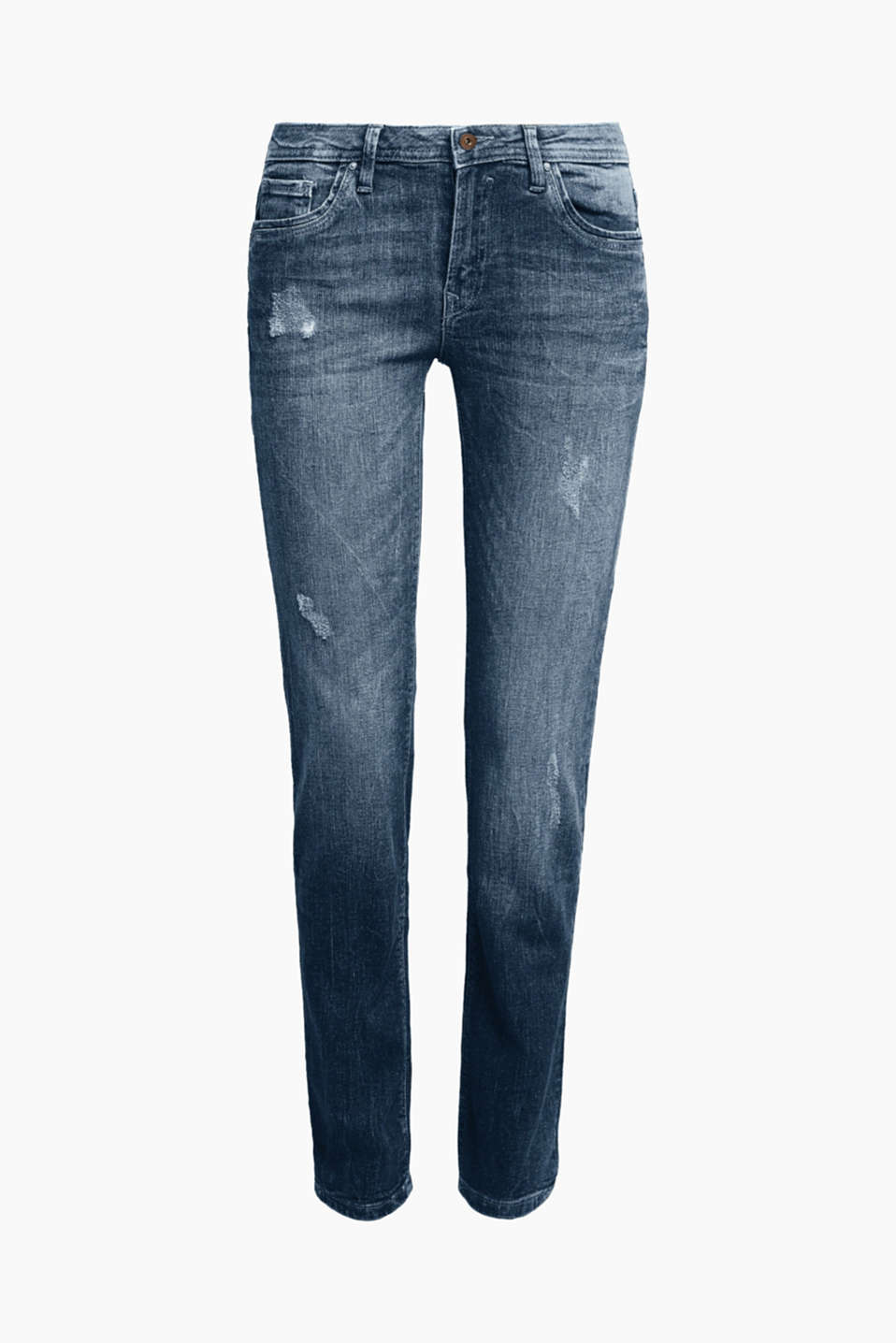 The perfect essential piece: casual, garment-washed jeans with high-quality organic cotton and added stretch.