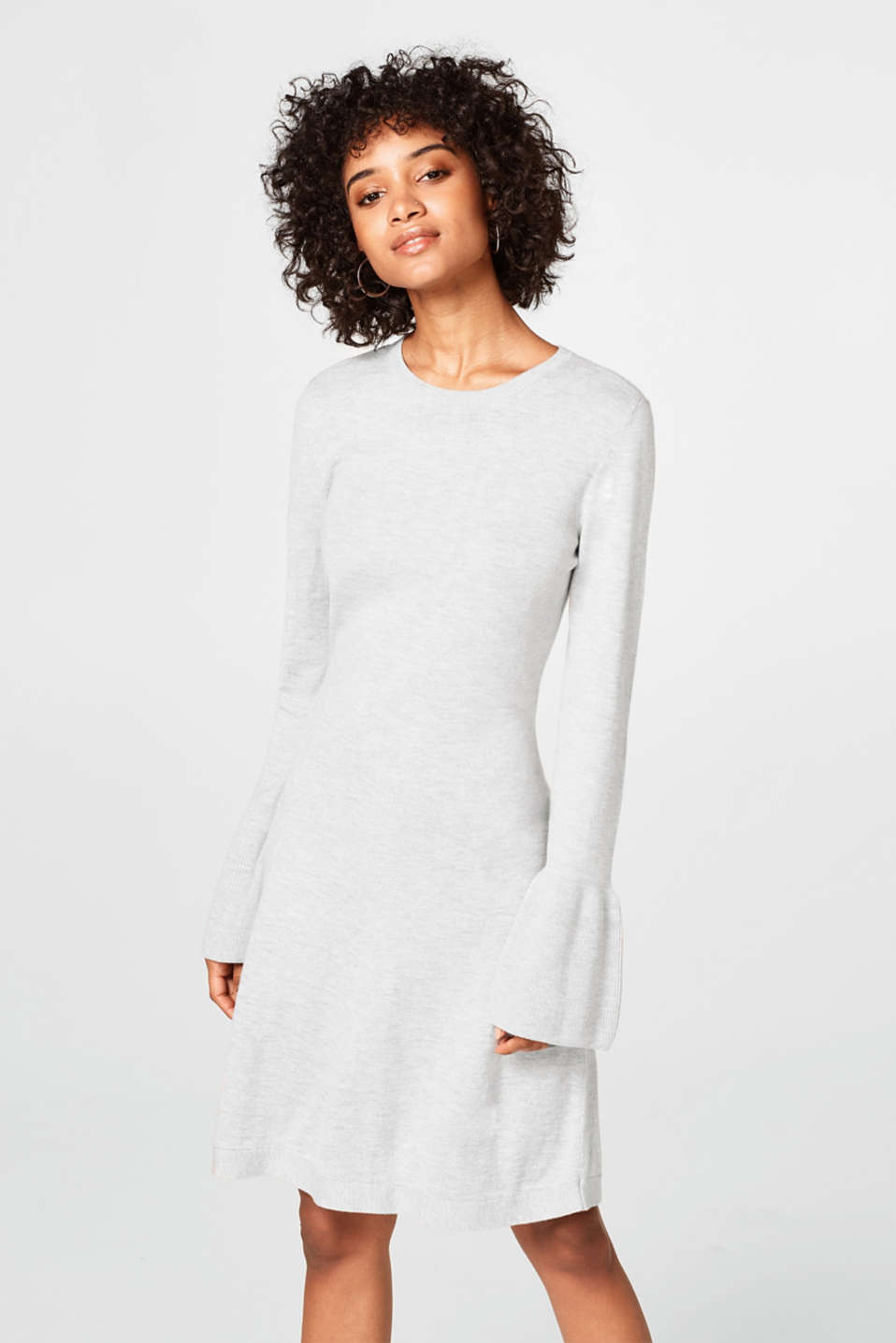 edc - Knitted dress and flounce sleeves