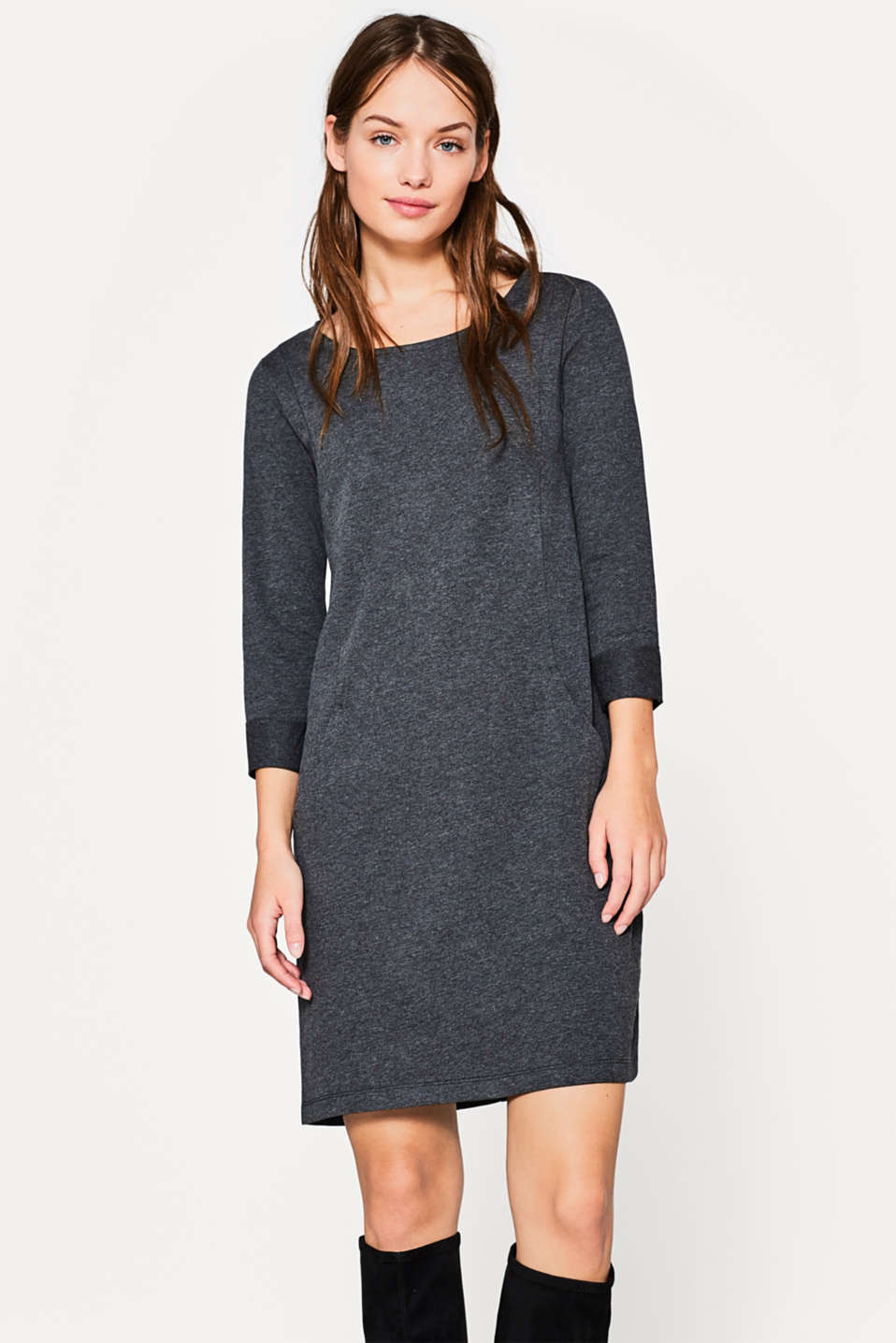 edc - Light sweatshirt dress with pockets