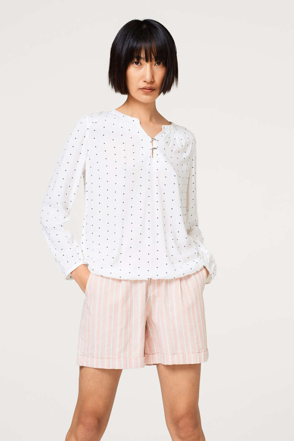 edc - Floaty blouse with a heart print