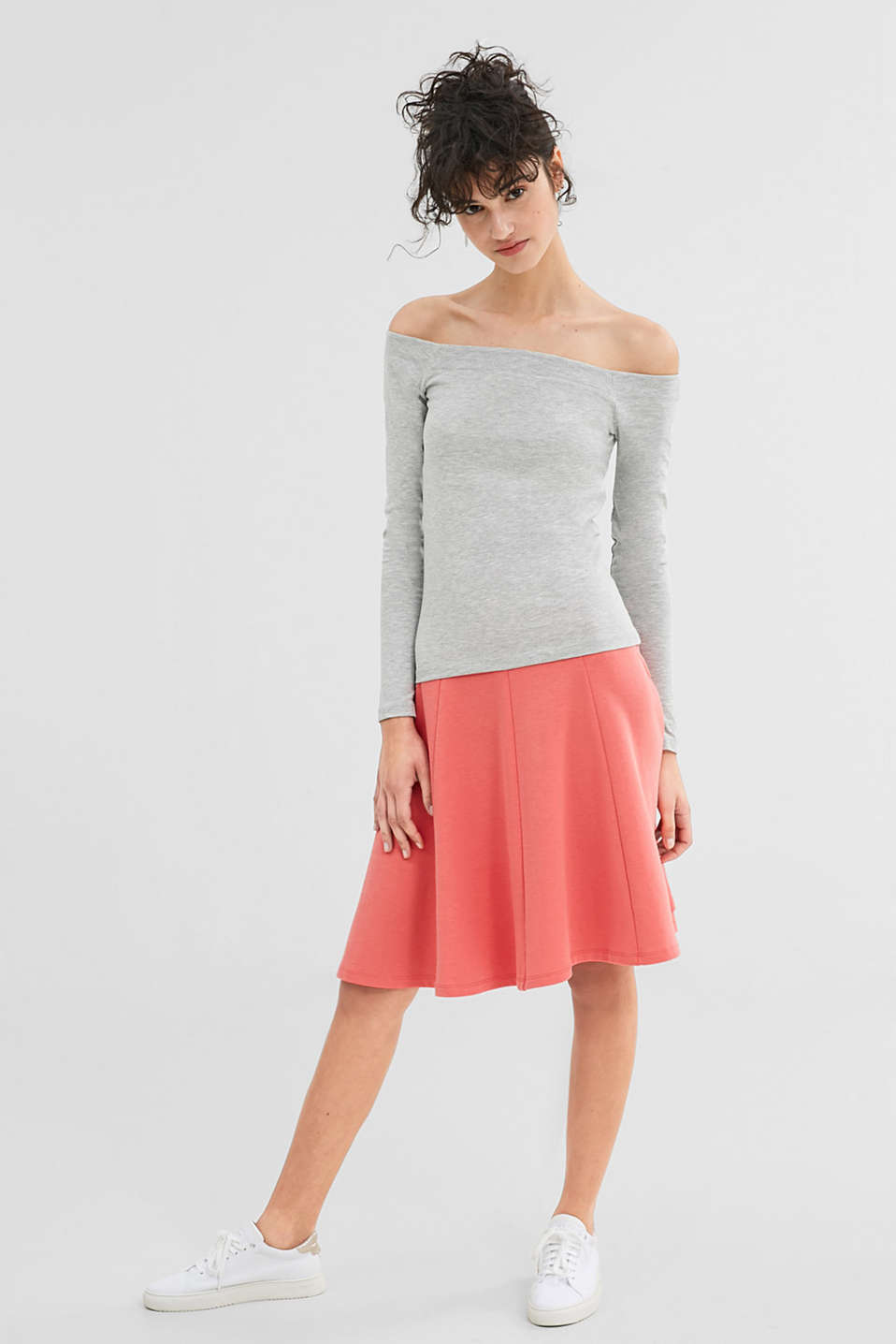 Off-Shoulder Top aus Baumwoll-Mix