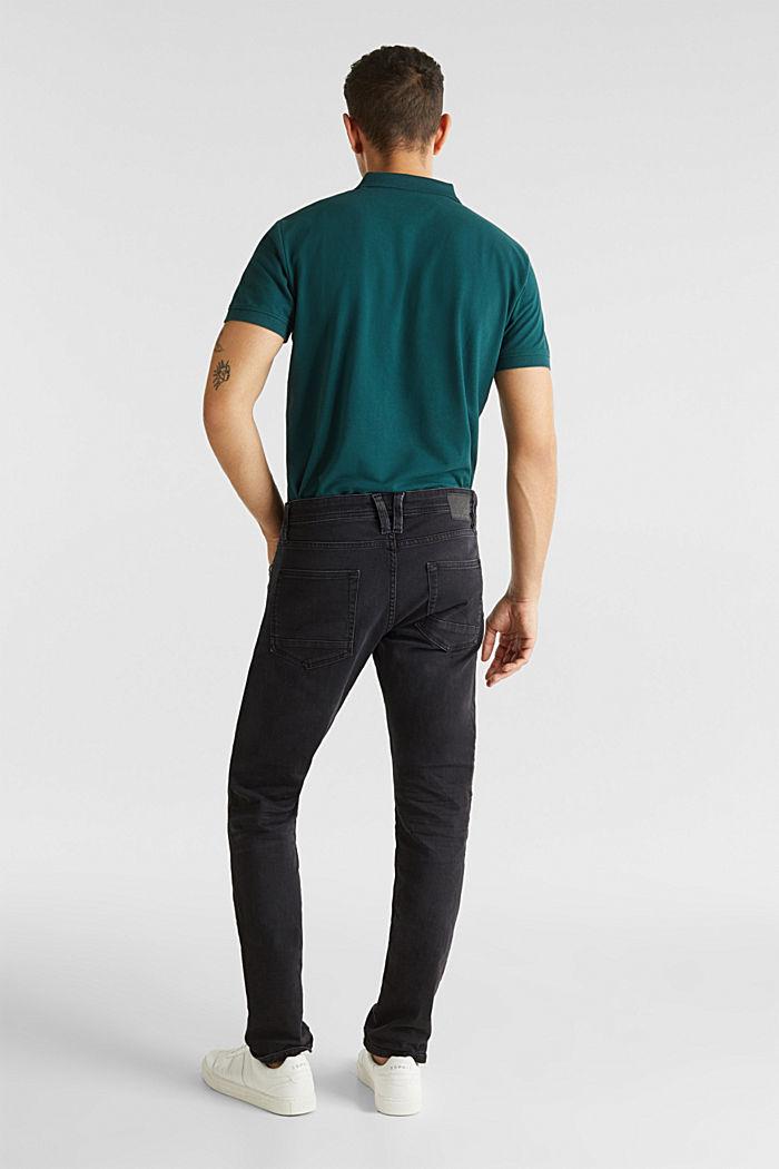 Black stretch jeans, BLACK DARK WASHED, detail image number 1