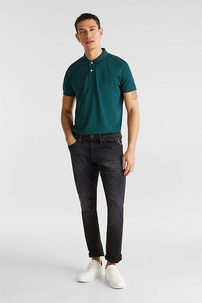Black stretch jeans, BLACK DARK WASHED, detail image number 2