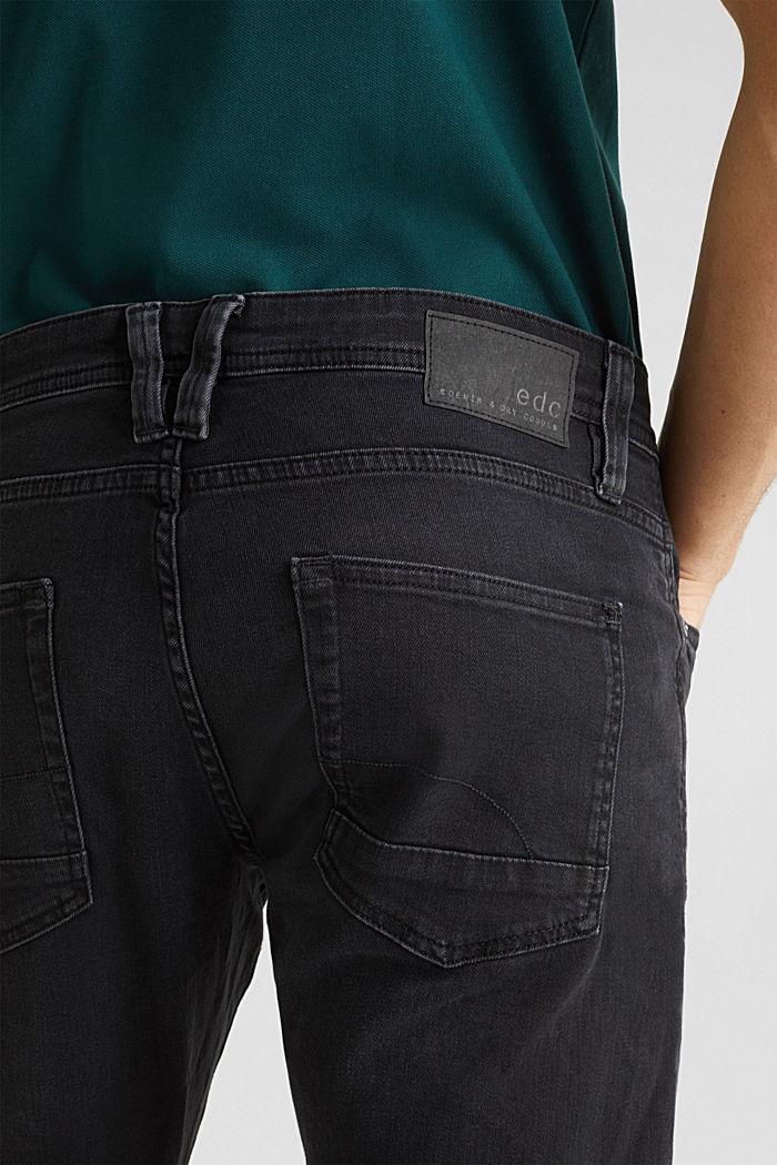 Black stretch jeans, BLACK DARK WASHED, detail image number 5