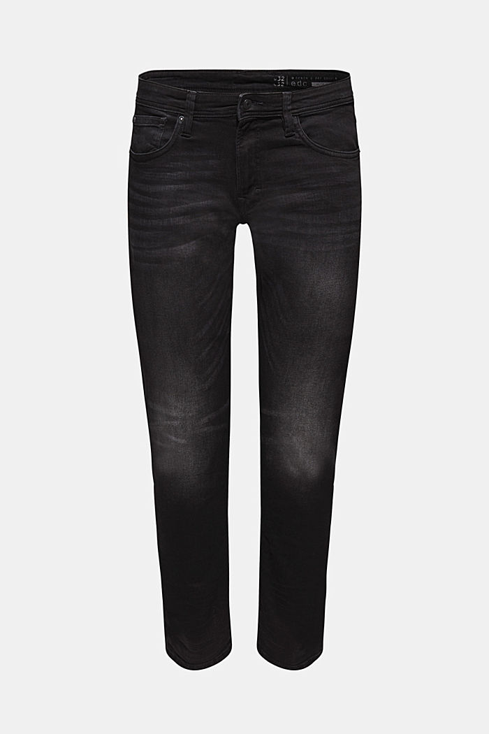Schwarze Stretch-Jeans, BLACK DARK WASHED, detail image number 6
