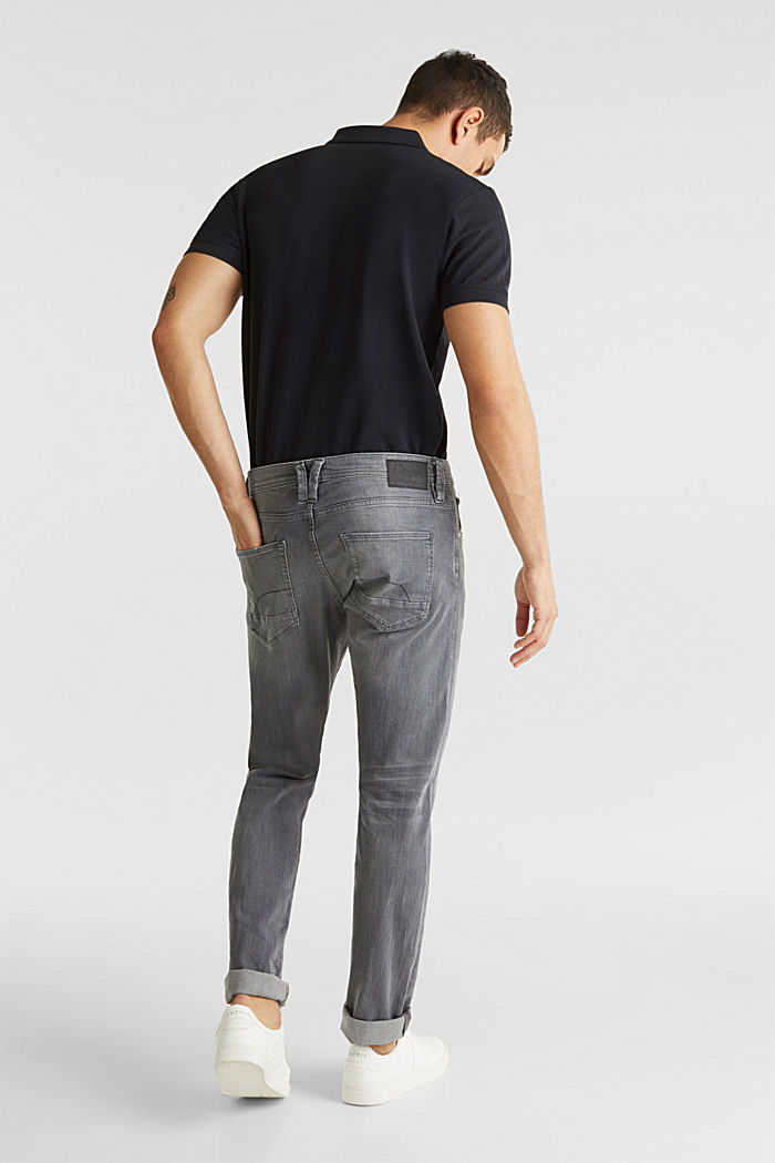 Stretch-Jeans mit Organic Cotton, GREY LIGHT WASHED, detail image number 1