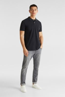 Stretch jeans containing organic cotton, GREY LIGHT WASH, detail