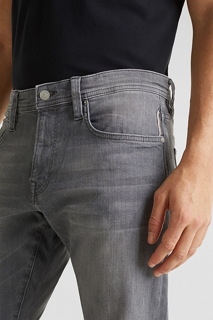 Stretch-Jeans mit Organic Cotton, GREY LIGHT WASHED, detail image number 3