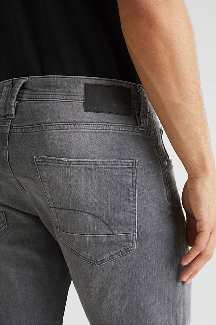 Stretch-Jeans mit Organic Cotton, GREY LIGHT WASHED, detail image number 5
