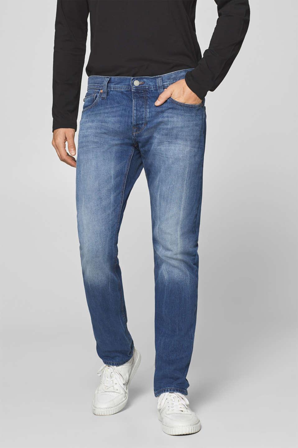 Vintage wash jeans, 100% cotton